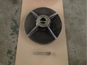 Alloy 20 disc and pin for swing check valve top