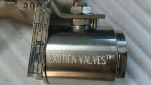 Exotica Valves Alloy 20 ball valve