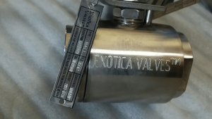 Exotica Valves ball valve A20 CN7M