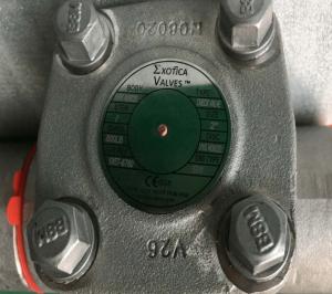 Piston check valve Alloy 20 Class 800 NPT ends top view