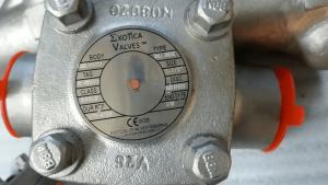 Piston check valve Alloy 20 body and trim nameplate marking
