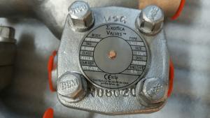 Piston check valve Alloy 20 body and trim nameplate