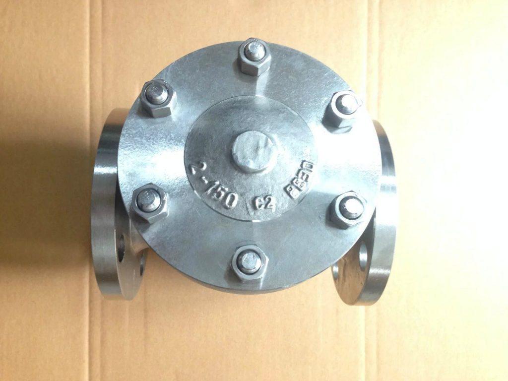 Swing check valve cast Titanium B381 Gr 2 top